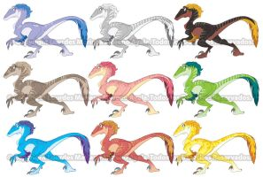Raptor Color Studies by marimoreno