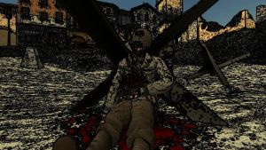 Dying soldier in D-Day by Technicallyderped