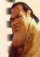 Steve Seagal Caricature by alonsopf