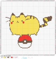 Pikachu-cat pattern by Nenetchy
