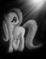 flutterShy in the Dark by ButtonsTheCatt