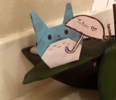 Origami Totoro by KanraXiong