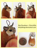 Nut Pendant - Chinchilla - SOLD by Bittythings