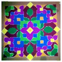 The Traditional Rangoli by SRUJAL