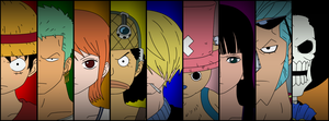 Straw Hat Pirates (Pre-Timeskip) by Crimson-XXVIII