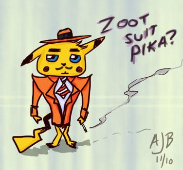 Zoot Suit Pikachu by flamingplatypus