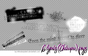 Chizuru Lyrics Pngs - pack 01 by InTheDeepDark