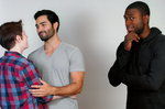 Sterek and a confused Boyd by SonOfLaufey