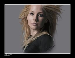 Avril Lavigne Portrait 2 by Stainedx