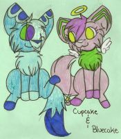 AT: Cupcake and Bluecake by dragonpop1