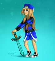 Iceika123 Minecraft character by DeceptiBonk