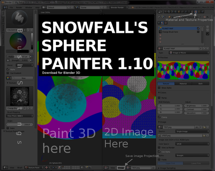 Snowfall's Sphere Painter 1.10 (for Blender 3D) by Snowfall-The-Cat