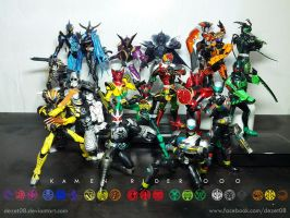 Kamen Rider OOO and Greed by dezet08