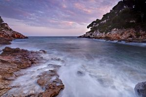 Long Exposure Balearic Sea surf by Bull04