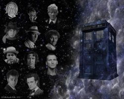 The Tardis and Her Doctors by killashandra-falta