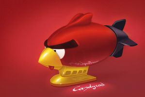 Angry Birds Red Bird blimp by candyrod