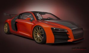 audi R8 custom gt wing by 3dmanipulasi