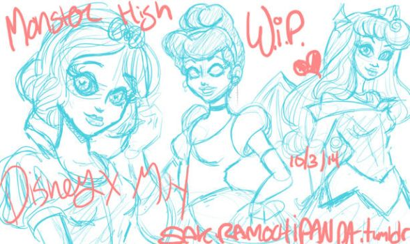 MH: WIP Disney Princess Revisited 1 by I-heart-Link