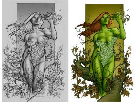 Poison Ivy - Pencil and PS by taguiar