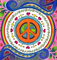 Peace Mandala by ChaoticatCreations