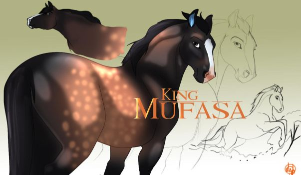 King Mufasa the horse by dyb