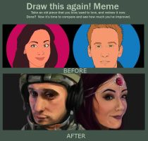 Draw this again! Meme - Youtube Banner 2013-2014 by jessparry