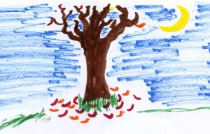Bare Tree (markers) by Karoyence