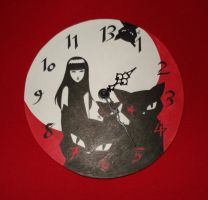 Emily the Strange wall clock by NoctiLuna