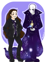 Noise and OP Gaster by booplebuns