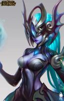 Atlantean Syndra Portrait Official Art by ZeroNis