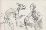 Odo and the Demon Cat Thing by SherlockianHound
