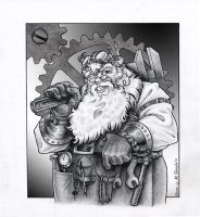 Steampunk Santa by M-Skirvin