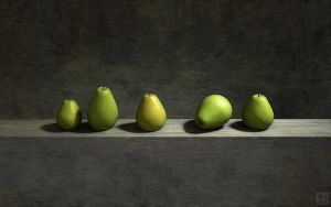 Five Pears by curious3d