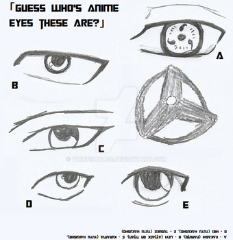 Guess who's Anime Eyes these are with answers by TMNTShoujo