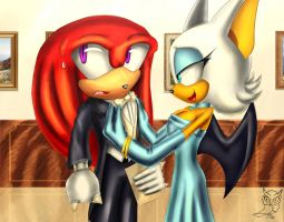Knux dislikes being fancy by DieBronzeneule