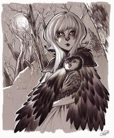 Princess of the owls by Psyche-Evan