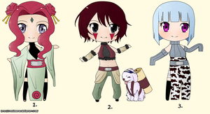 Naruto Chibi Adoptables - Set 2 (Auction - CLOSED) by ConnieMeow