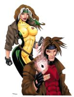 Gambit and Rogue Color by ESO2001
