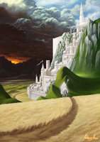 Minas Tirith by AnthonyAvon