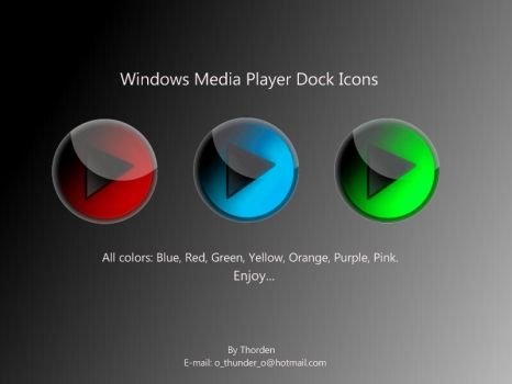 Windows MP Dock Icons by Thorden