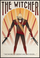 The Witcher poster by filipvajbar