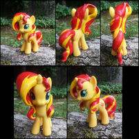 My Little Pony Sunset Shimmer Custom Figure by KittyKatz547