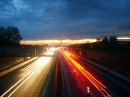 Night on the Highway by kovah-kvh