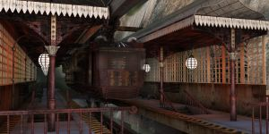 Steampunk monorail details by shaddam89