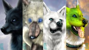 Realistic Wolf Pack by Ayane-Sabakuno