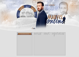 Layout for marvel-online.blog.cz by FlowerskaHoneyLand