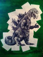 Godzilla by shiftandcapslock