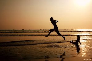 A Sunset Leap by ditya