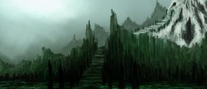 Landscap with stairs by StartingTheJourney