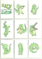 Gary the Gator ATCs color by Tattoo711